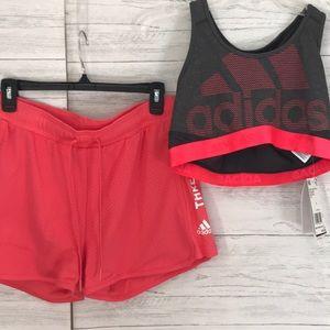Adidas shorts and top